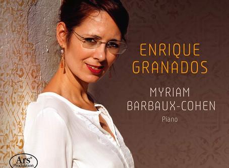 Le piano intime de Granados par Myriam Barbaux-Cohen