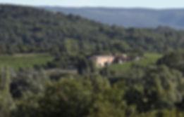 Landscape shot of Domaine de Tara in Southern France.