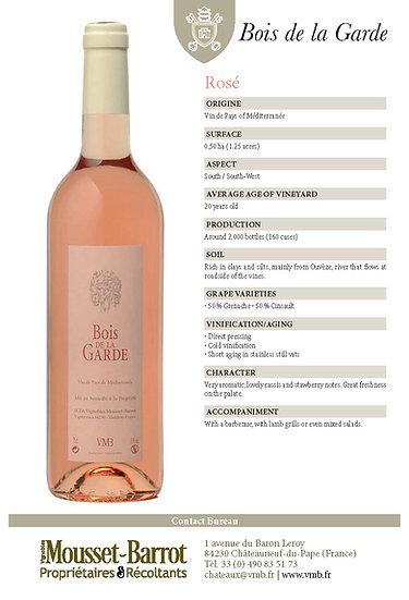 2016 Bois de la Garde, Vin de Pays Mediterranee Rose (coming soon)