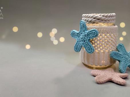 Rionnag pot, luminária em crochê
