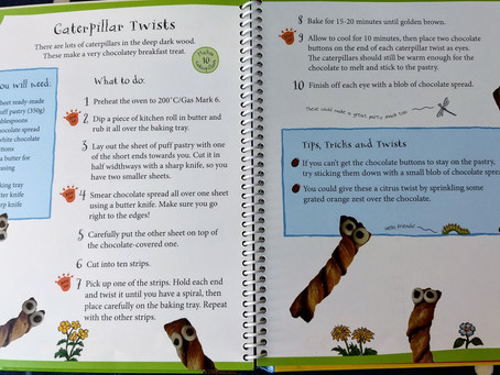 Kids' lockdown cookery activities - caterpillar twists!