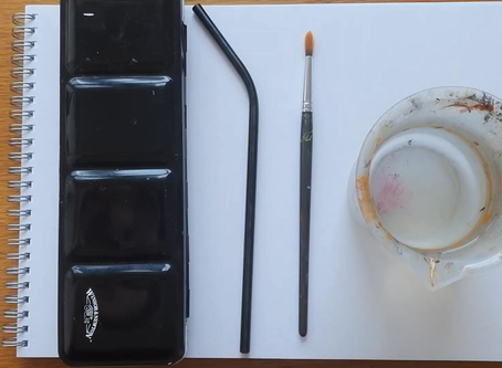 Kids' fun, simple lockdown activity - straw painting