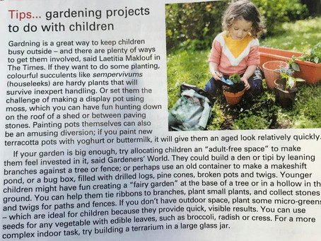 Kids' gardening ideas