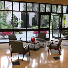 Atrium with view of patio