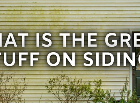 What Is The Green Stuff On Siding?
