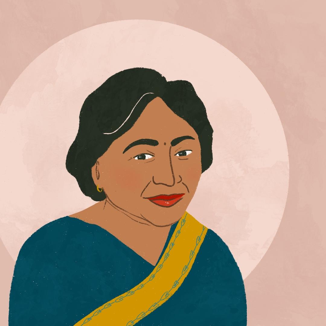 Shakuntala Devi Portrait