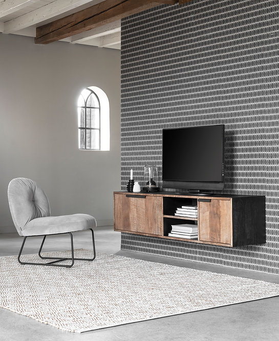 DTP Home, Regal, TV Hängeregal No.1 medium, 3 Türen, 2 Fächer