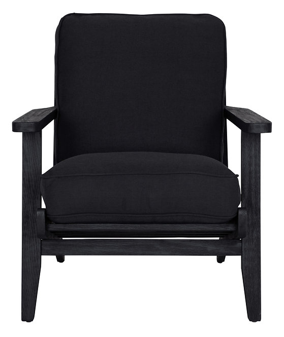 MUST LIVING, Lounge-Sessel Carlton, Eichenholz, schwarz, 80x73x90cm