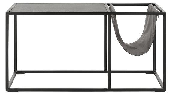 MUST LIVING, Bazalt, Tisch Mont , schwarz, 40x80x40cm