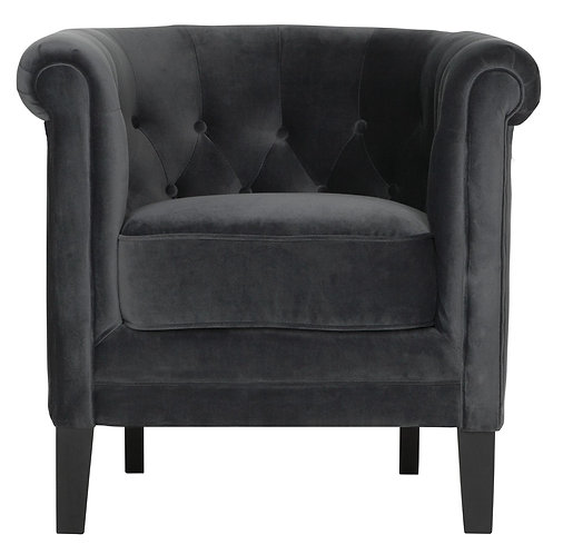 MUST LIVING, Lounge-Sessel Queen, Samtstoff, 75x80x72cm