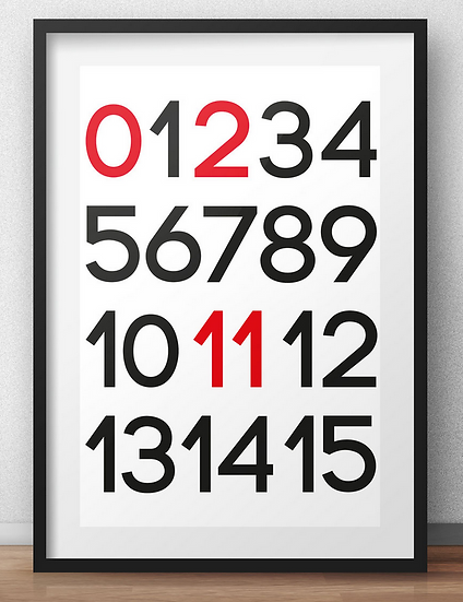 """0211 Poster """"numbers"""""""