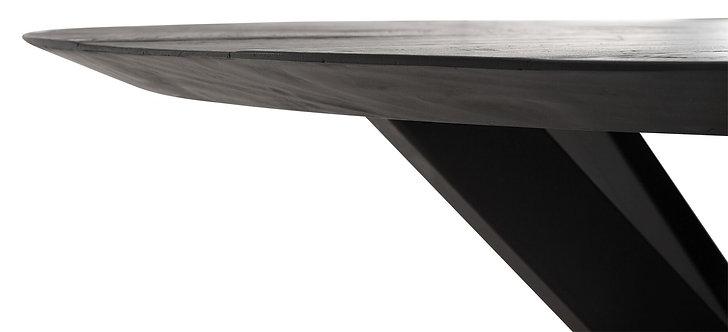 DTP Home,  Esstisch rund , 150cm, Timeless BLACK, recyceltes Teakholz , schwarz