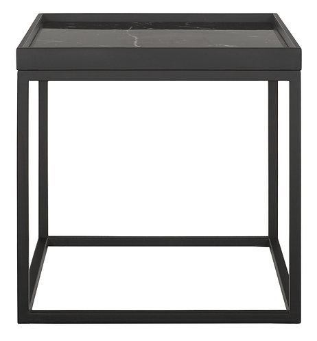 MUST LIVING, Marble, Tisch Tray, Marmor, schwarz, 50x50x50cm