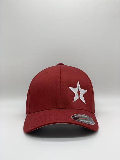 "Original Flexfit Cap ""STAR"" - bordeaux"