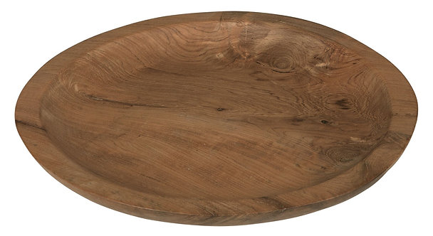 MUST LIVING, Mood for Wood, Tablett Sweet & Sour, Teakholz, braun, 30cm