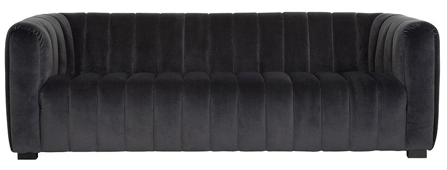 MUST LIVING, Sofa Elegant, Samtstoff, 75x230x96cm