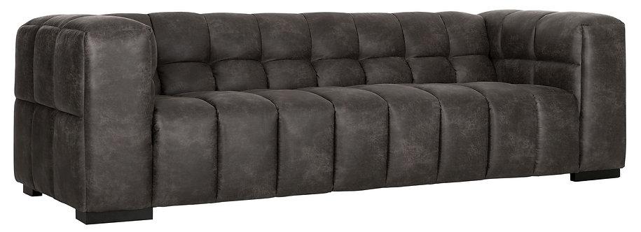 MUST LIVING, Sofa Waves, recyceltes Leder, 74x240x96cm