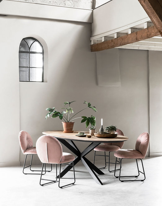 DTP Home,  Esstisch Oval 280cm, Timeless, recyceltes Teakholz , braun