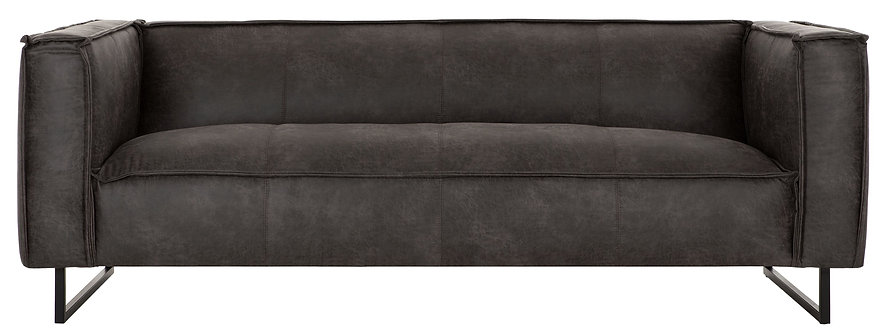 DTP Home,  Sofa THAMES,  River, weiches Kunstleder , carlitto charcoal