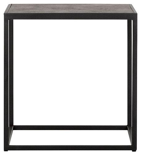 MUST LIVING, Beistelltisch Harmony, recyceltes Leder, schwarz, 42x40x40cm