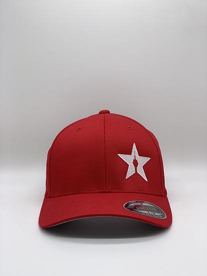 "Original Flexfit Cap ""STAR"" Red"