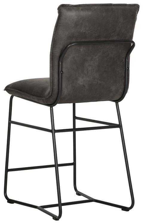 DTP Home,  Stuhl Counter Chair Delaware,  River, recyceltes Leder, cognac