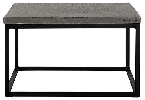MUST LIVING, Bazalt, Tisch Mont Blanc, schwarz, 35x60x60cm