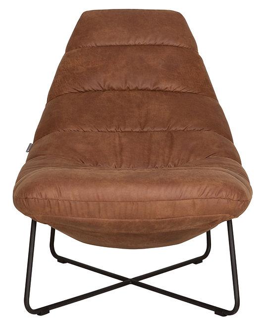 MUST LIVING, Lounge-Sessel Line, recyceltes Leder, cognac, 95x76x97cm