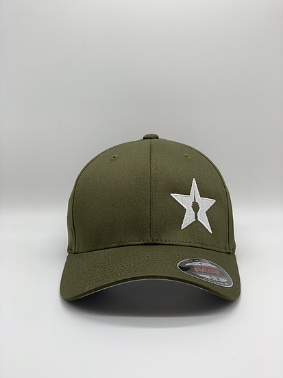 "Original Flexfit Cap ""STAR"" Olive"