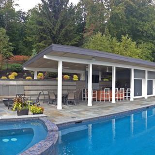 Pool House at the Lake