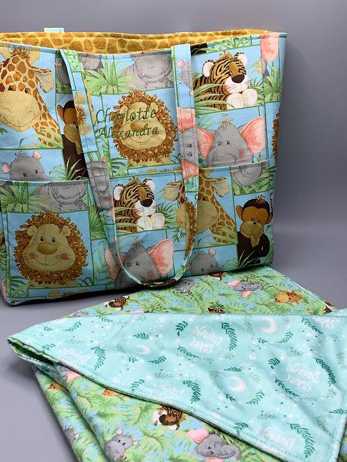 Diaper Bag & Coordinating Blanket
