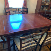 Chippendale style dining table chairs.jp