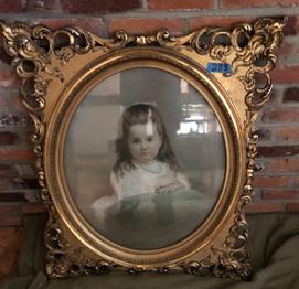 framed portrait of young girl.jfif
