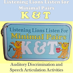 auditory discrimination /k/ and /t/