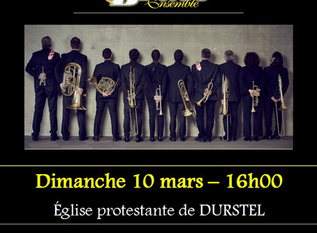 10 mars à 16h - concert à Durstel
