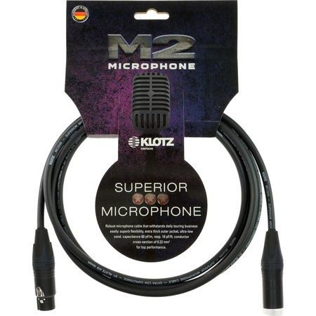 M2 Mic Cable XLR-F / XLR-M 3m , with extra thick outer jacket