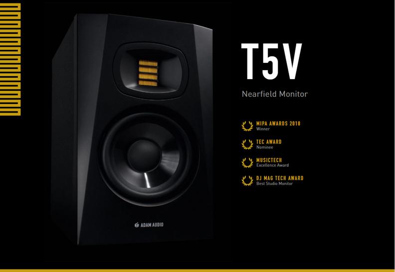 Adam Audio T5V Studio Monitor 5吋監聽喇叭