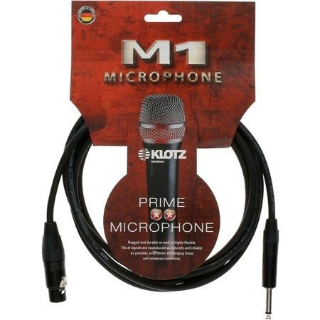 M1 Mic Cable, XLR-F / Jack Plug 2P, 10m Neutrik