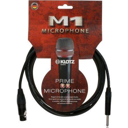 M1 Mic Cable, XLR-F / Jack Plug 2P, 3m Neutrik