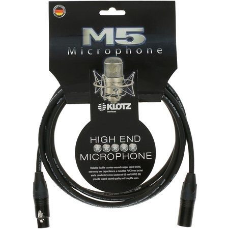 M5 High End Mic Cable, XLR-F / XLR-M, 10m Neutrik Gold