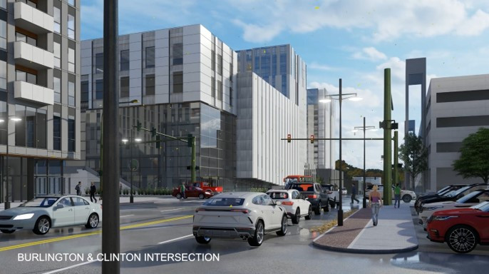 Burlington and Clinton Intersection