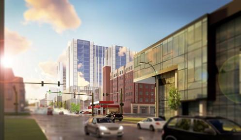 Burlington Street and UI Recreation Building