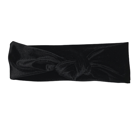 Black Velour Headband