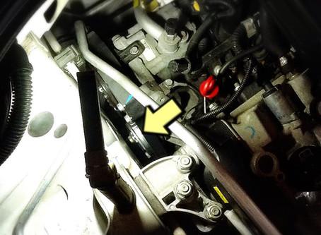 FIAT 500C テンションプーリー交換