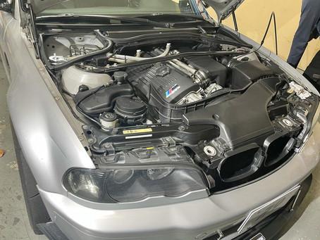 E46M3 オイル交換/車の挙動がおかしい?