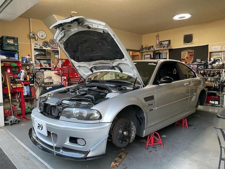 BMW E46M3 サーキット走行後のメンテナンス