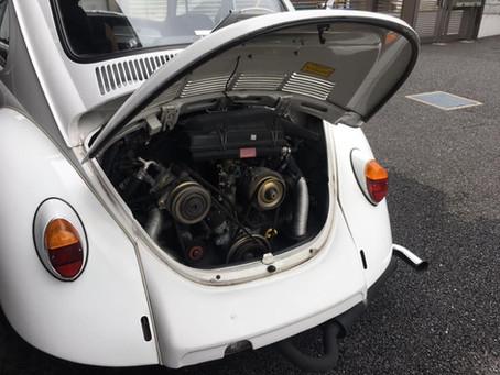 VW MexicoBeetle 点検/エアコンの水が?