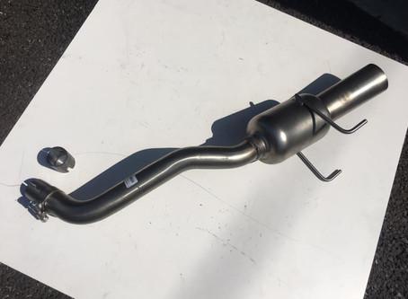 FIAT500C マフラー交換