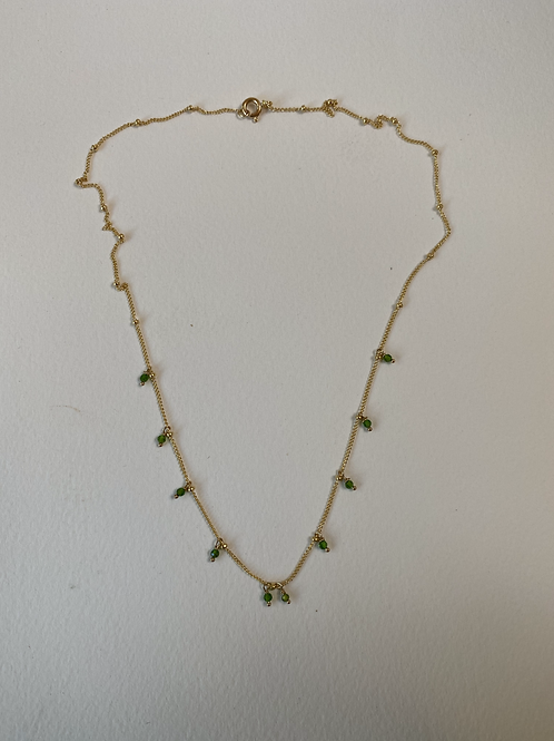 Manini Green Necklace