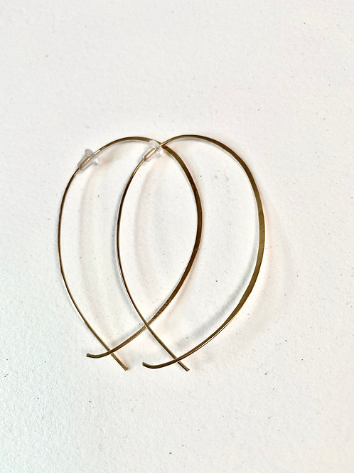 Gold Large Hoops